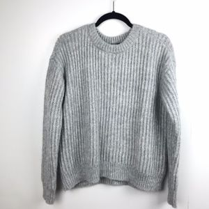 Lord + Taylor 424 Fifth Gray Mock Neck Sweater